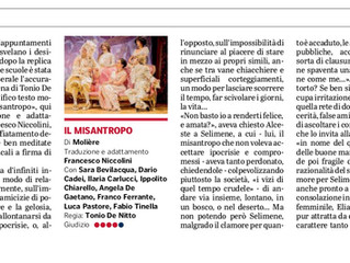 Il Misantropo visto da Valeria Ottolenghi su La Gazzetta di Parma