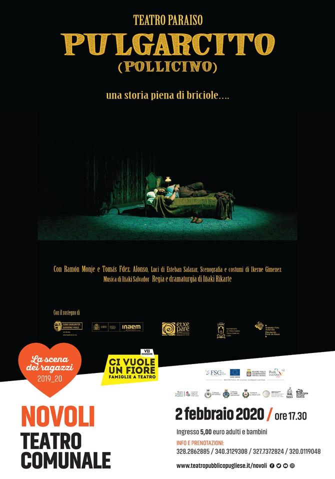 POLLICINO (Pulgarcito) del Teatro Paraiso torna a Novoli domenica 2 febbraio ore 17.30