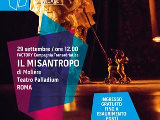 IL MISANTROPO a Roma al Teatro Palladium per Pugliashowcase