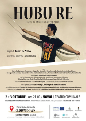 HUBU RE a Novoli con Cross the gap 2 e 3 ottobre