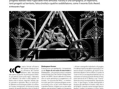 """Su Hystrio Alessandro Toppi racconta Factory """"Un sogno indistruttibile divenuto realtà""""..."""
