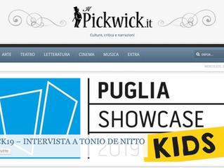 Su Pickwick l'intervista a Tonio De Nitto per Puglia showcase kids