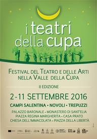 RITORNA IL FESTIVAL     I TEATRI DELLA CUPA seconda edizione tra Novoli, Campi e Trepuzzi