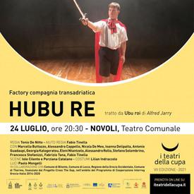 HUBU RE ritorna a Matera, San Vito, Novoli e Ostuni