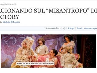 """Michele Di Donato su """"Il Misantropo"""" in Ilpickwick.it"""
