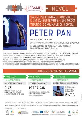Peter Pan a Novoli al Teatro Comunale