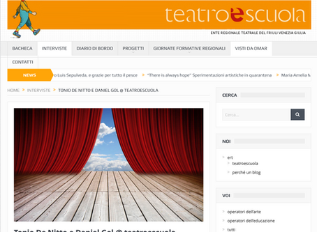 Tonio De Nitto e Daniel Gol @ teatroescuola - intervista a cura di Omar Manini