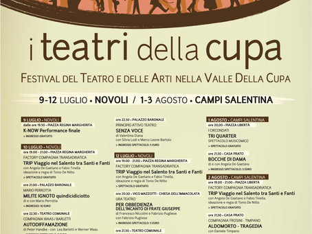al via la prima edizione del Festival              I TEATRI DELLA CUPA