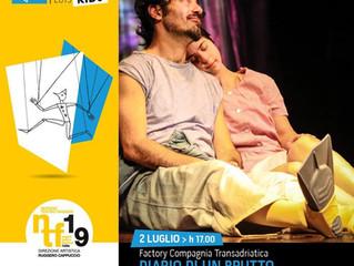 DIARIO DI UN BRUTTO ANATROCCOLO AL PUGLIASHOWCASE KIDS al Napoliteatrofestival il 2 luglio