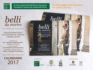 """IL CALENDARIO FAI CON """"BELLI DA MORIRE"""" per le chiese danneggiate dal sisma."""