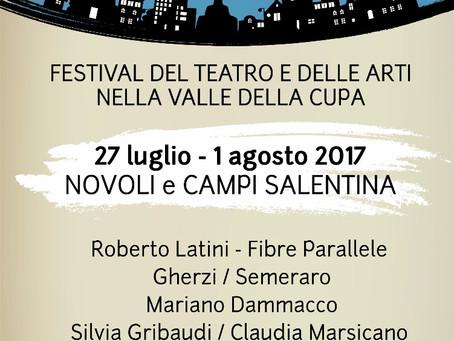 I TEATRI DELLA CUPA 3a edizione           27 luglio - 1 agosto 2017 SAVE THE DATE!