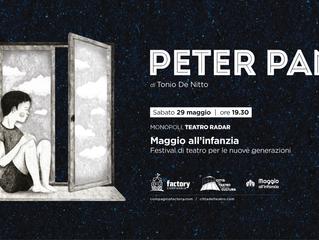 Peter Pan in prima regionale al Festival Maggio all'Infanzia