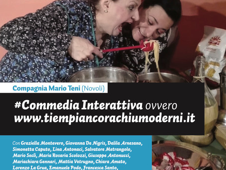 la compagnia Mario Teni presenta la nuova COMMEDIA INTERATTIVA