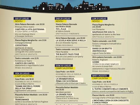 IL PROGRAMMA DEL FESTIVAL  I TEATRI DELLA CUPA 27 luglio-1 agosto 2017