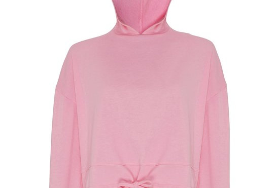 Pink Cropped Oversize Hoodie