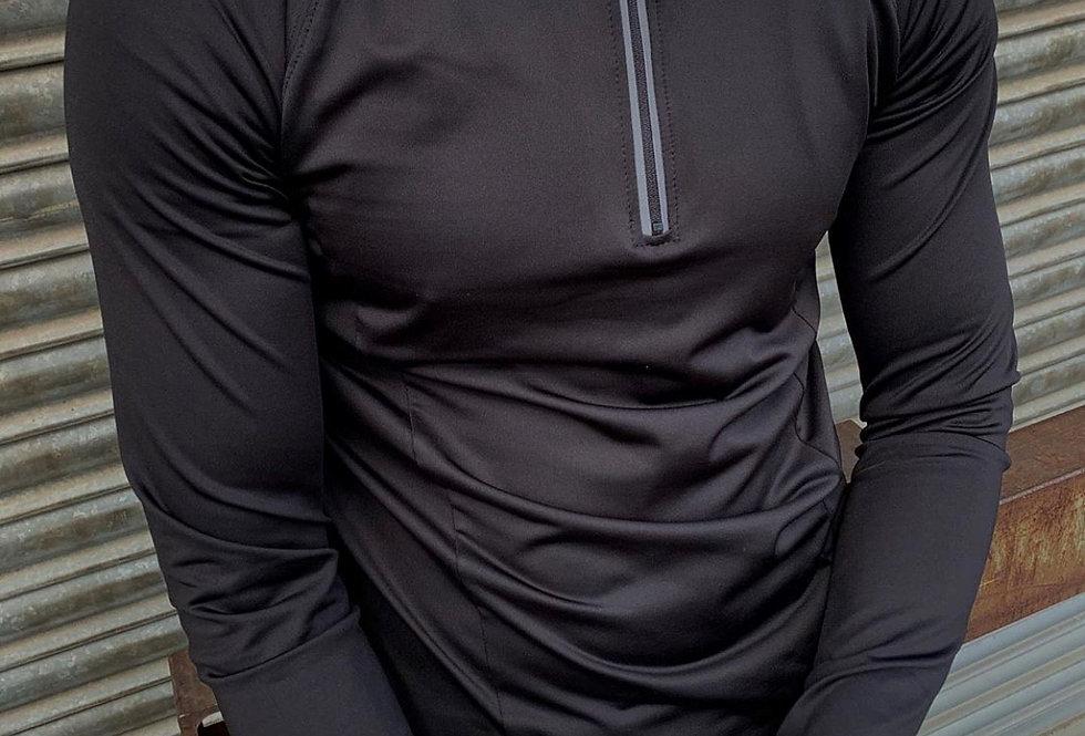 Black Deluxe Training Half Zip