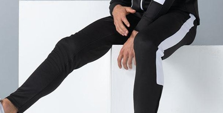 Black Contrast Agility Tracksuit Bottoms