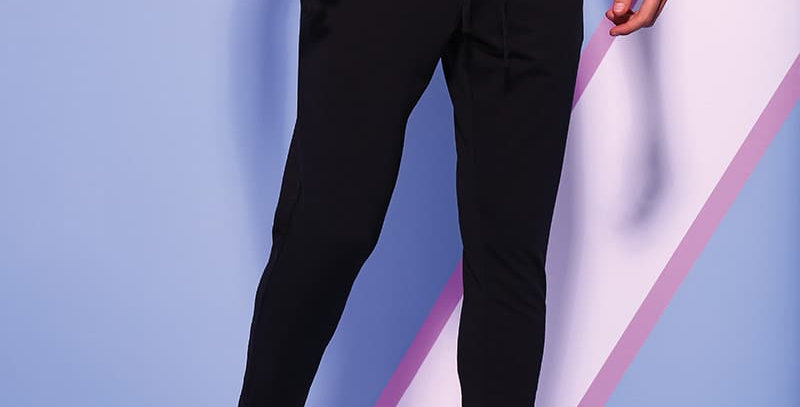 Black Tapered Tracksuit Bottoms