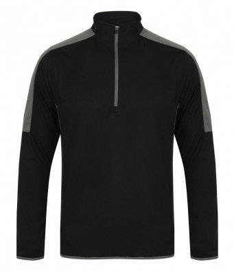 Agility Contrast Zip-up - Black