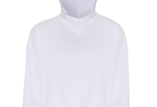 White Cropped Oversize Hoodie