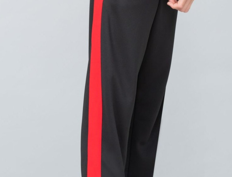 Kids Black/Red Agility Tracksuit Bottoms