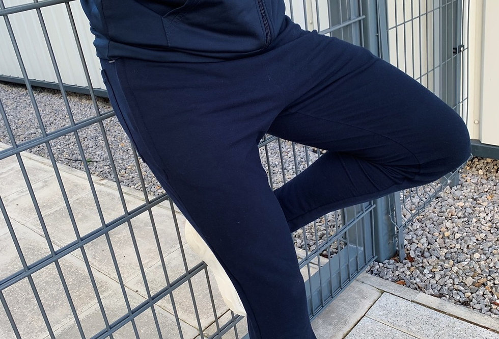 Navy Tapered Tracksuit Bottoms
