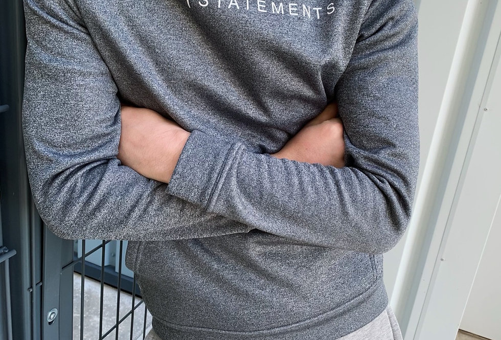 Grey Melange Deluxe Hoodie