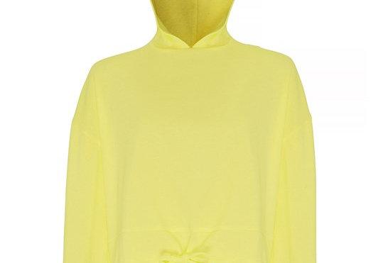 Lemon Cropped Oversize Hoodie