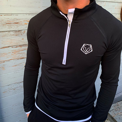 Core Training 1/4 Zip - Black / White