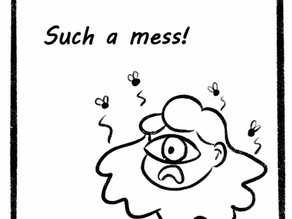 The mess is everywhere! Comic