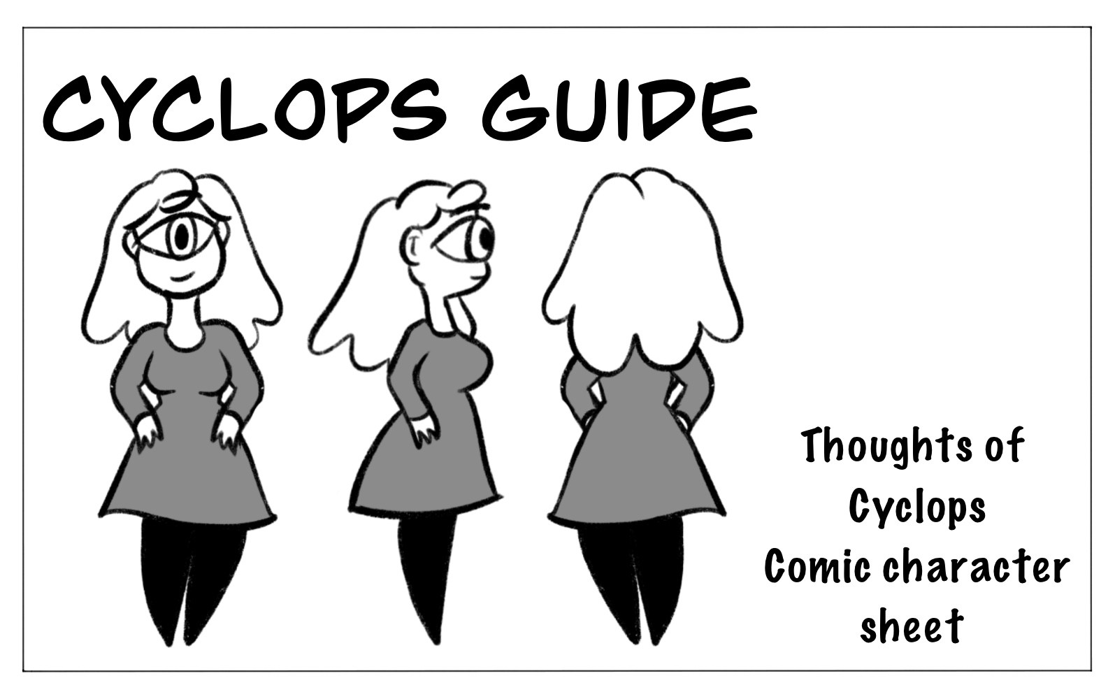 Character cyclops Comic sheet