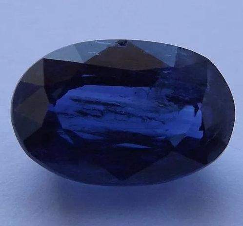 Safira Azul Do Nepal - 7,90 Cts - 13.51 x 8.92mm - Cianita Extra