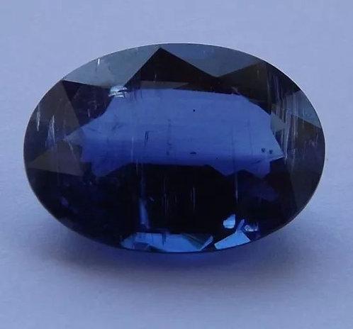 Safira Azul Do Nepal - 8,22 Cts - 15.06 x 10.76mm - Cianita Extra