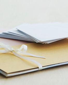 手紙を書きます