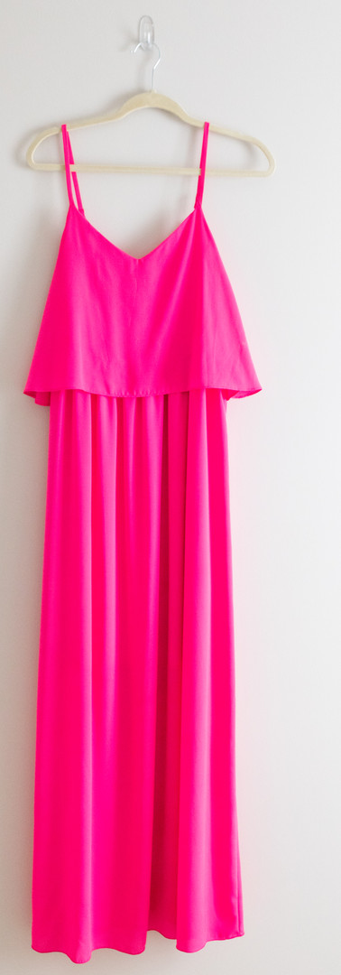 Size L Hot Pink Maxi Dress