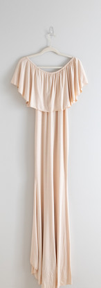 Size S/M Cream Maternity Gown