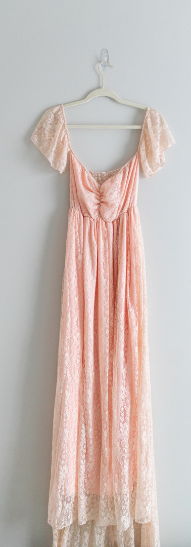 Size L Peach Off the Shoulder Maxi Dress
