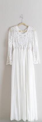 Size XL White Lace Top Maxi Dress