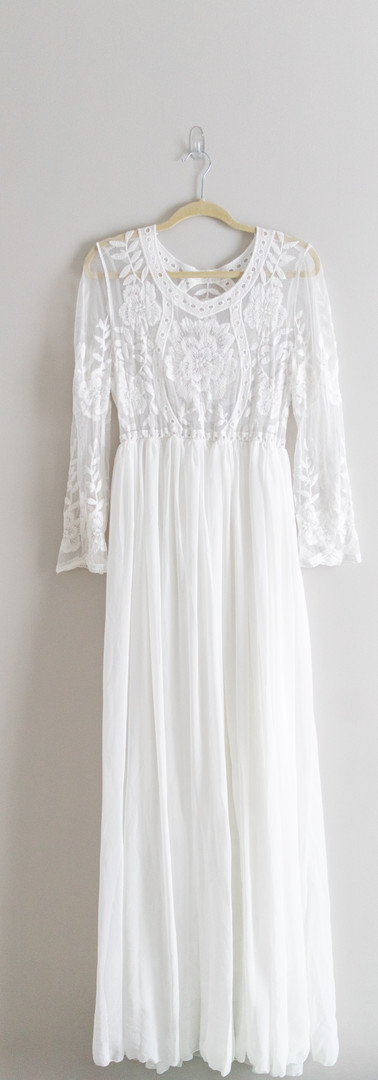 Size XL White Lace Top Maxi Dress