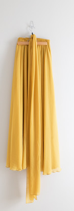 One Size - Extra Long Mustard Skirt