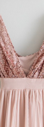 Size M/L Rose Gold & Tulle Gown