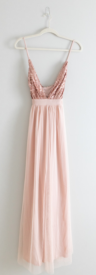 Size M/L/XL Rose Gold & Tulle Gown