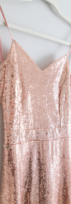 Size M/L Rose Gold Sequin Gown