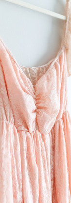 Size L Peach Off the Shoulder Maxi Dress