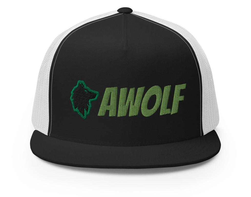AWolf Trucker Hat Black/WhiteGreen
