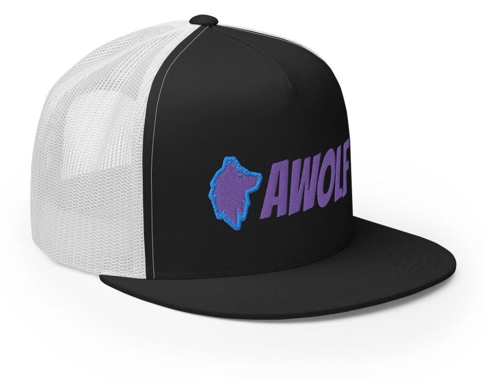 Black and Galaxy and White Trucker Hat