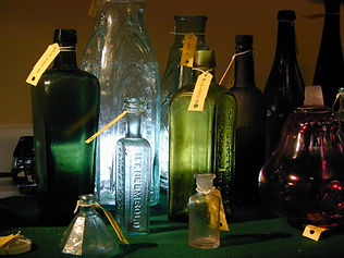Bottles from the SS Republic shipwreck.
