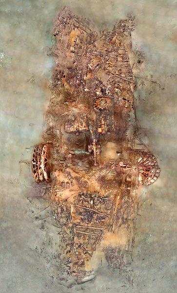 The SS Republic shipwreck photomosaic.