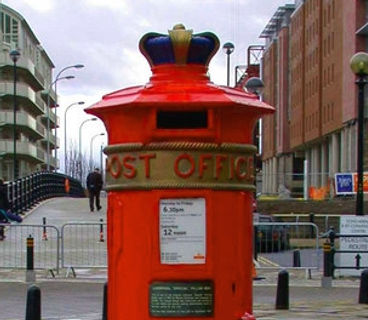 Liverpool Special Post Box, Post Box, Albert Dock, Royal Mail