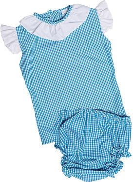 Conjunto bebé: Vestido & Tapa fralda - Colégio dos Arcos
